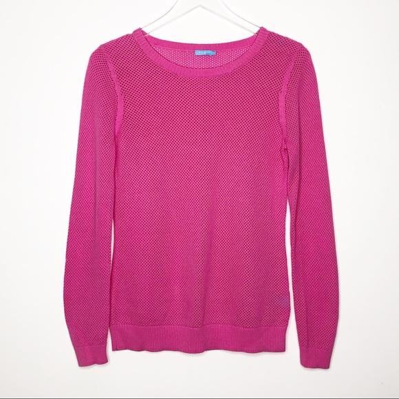 J. McLaughlin Sweaters - J. McLaughlin   Pink Open Knit Sweater Size M